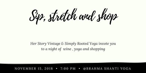 Sip, Stretch and Shop