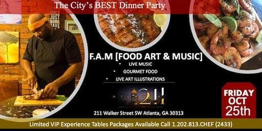 F.A.M. Food Art Music.