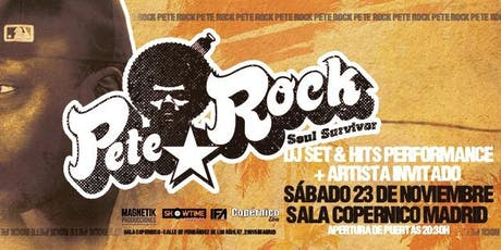PETE ROCK en directo Madrid Dj set y Hits performance entradas