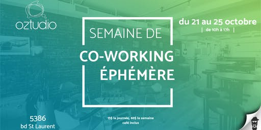Semaine de co-working éphémère Oztudio