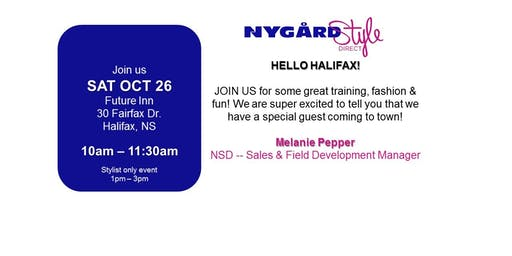 HELLO HALIFAX! FALL FASHION AND OPPORTUNITY EVENT