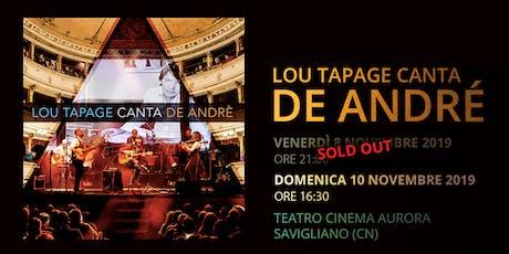 Lou Tapage canta de André biglietti
