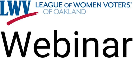 Webinar on Oakland Voter Demographic Study tickets