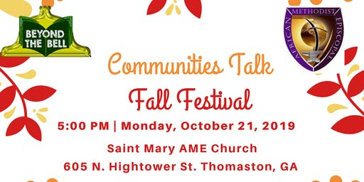 Communities Talk Fall Festival