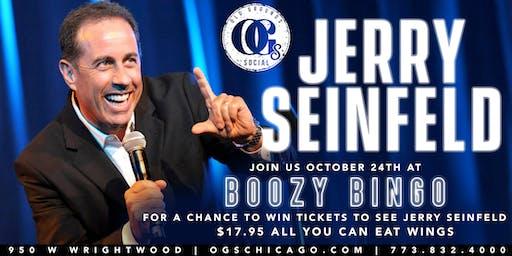 Boozy Bingo - Win Jerry Seinfeld Tickets!