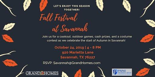 Fall Festival at Savannah