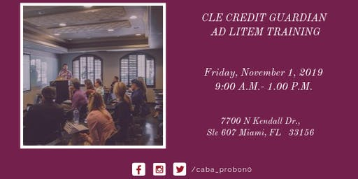 Free CLE Credit Guardian Ad Litem Training
