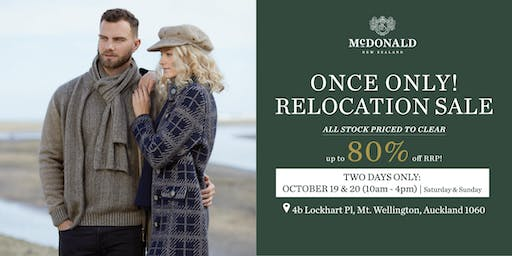 McDonald New Zealand - Once Only Relocation Sale