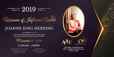 2019 Woman of Influence Award Luncheon Honoring Joanne King Herring