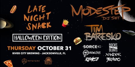 Late Night Snack 003 // Modestep + Tim Baresko // River City Brewing Co. tickets