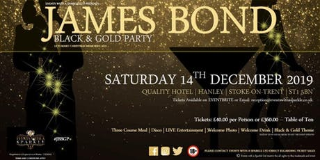 James Bond - Black and Gold Christmas Ball tickets