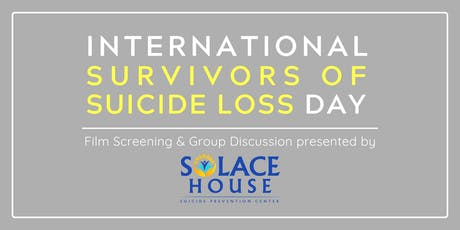 International Survivors of Suicide Loss Day at Solace House tickets