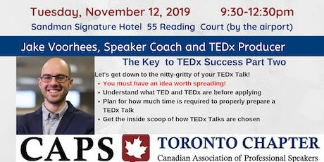The Key To TEDx Success Part TWO tickets
