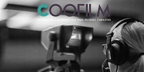 Networking producción Coofilm: María Zamora, María del Puy y Chelo Loureiro entradas