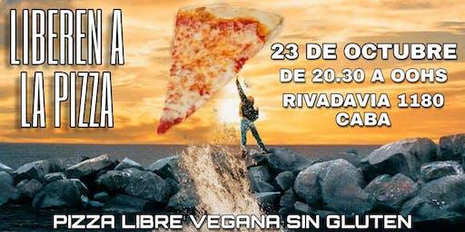 Pizza libre vegana sin gluten
