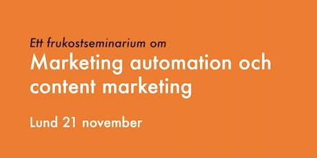 Marketing automation och content marketing tickets