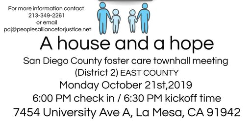 A house and a hope: Foster Care meeting (San Diego East County)