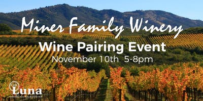 Miner Family Wine Pairing Event