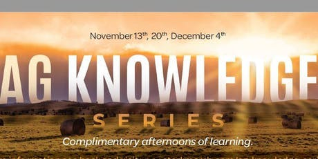 Ag Knowledge Series - Assiniboia tickets