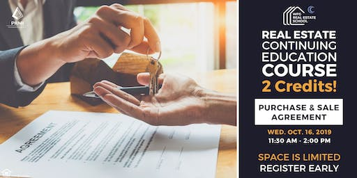 Real Estate CE Course: Purchase & Sale Agreement