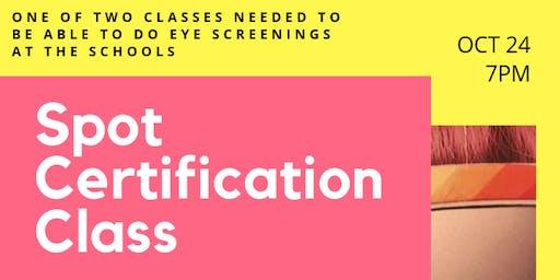 Eye Screening Certification