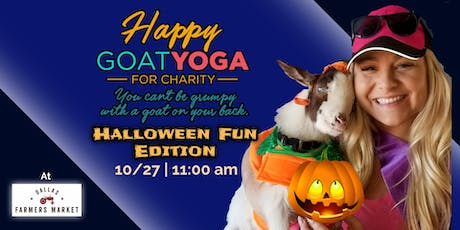 Happy Goat Yoga-For Charity: Halloween Fun Edition at Dallas Farmers Market tickets