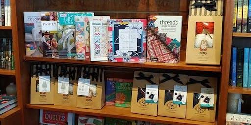 Sip  & Stitch at Riverstone Books