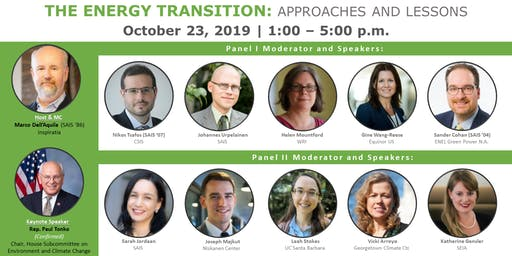ERE Energy Conference 2019 - THE ENERGY TRANSITION: APPROACHES AND LESSONS