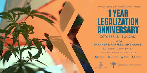1 Year Cannabis Legalization Anniversary