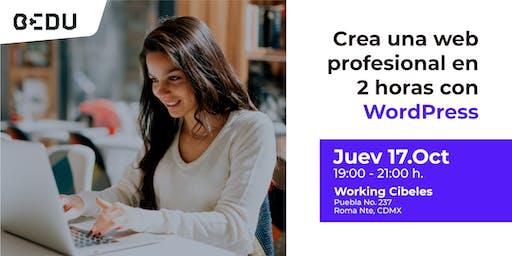 Crea una web profesional en 2 horas con WordPress