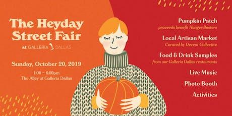 Heyday Street Fair at Galleria Dallas tickets