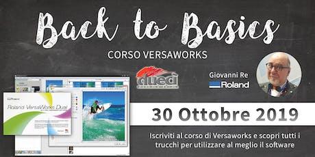 Corso Versaworks biglietti
