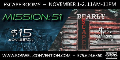 MISSION: 51 and BEARLY ESCAPED Escape Rooms - Brought to you by the RCCC