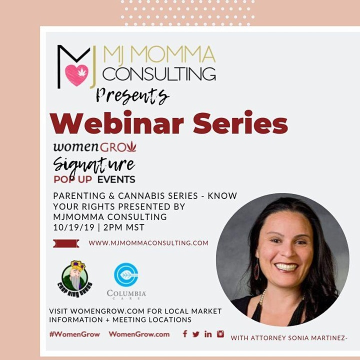 Women Grow Webinar Series : Parenting & Cannabis;  Know Your Rights image