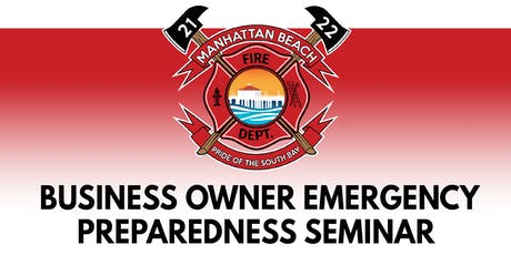 Business Owner Emergency Preparedness Seminar tickets