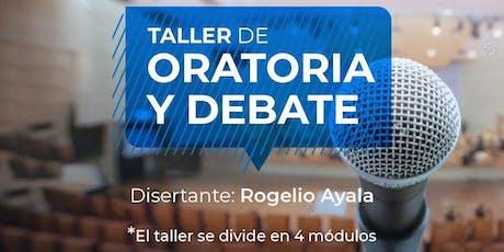 TALLER DE ORATORIA Y DEBATE entradas
