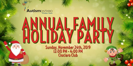 Autism Ontario Windsor Essex - Family Holiday Party
