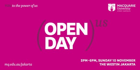 Macquarie University Jakarta Open Day 2019 tickets