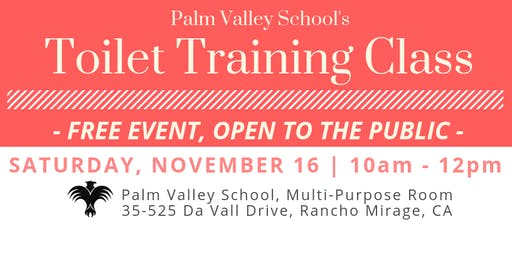 Palm Valley School's  Toilet Training Class
