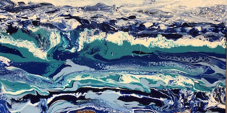 Fluid Acrylic Paint Pouring class with artist Joyce K. Groemmer tickets