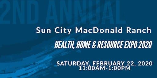 Sun City MacDonald Ranch Health, Home and Resource Expo 2020