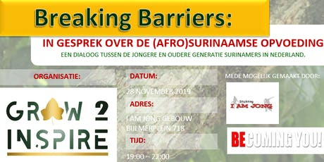Breaking Barriers: in gesprek over de (afro) Surinaamse opvoeding tickets
