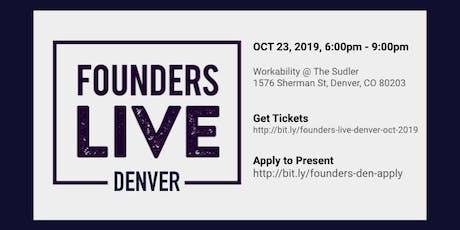Founders Live Denver - October 2019 tickets