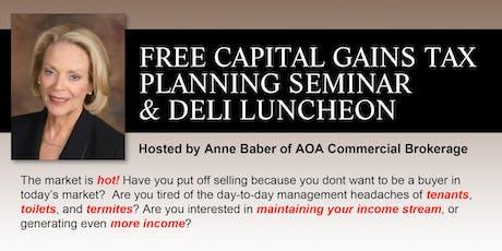 Capital Gains Tax Planning Seminar & FREE Luncheon (MB) tickets