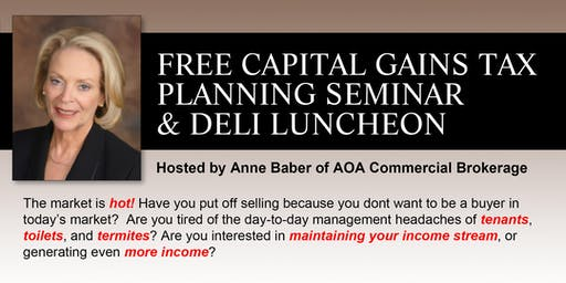 Capital Gains Tax Planning Seminar & FREE Luncheon (MB)