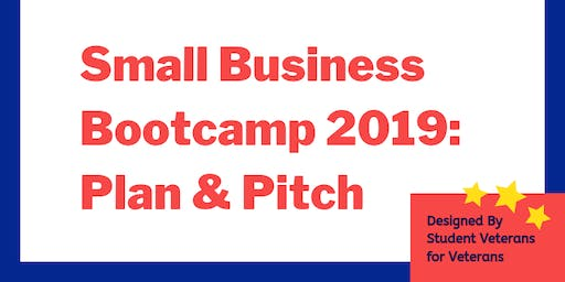 """Small Business Bootcamp """"Plan & Pitch"""""""