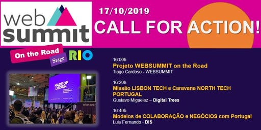 WEBSUMMIT ON THE ROAD - STAGE RIO - CALL FOR ACTION