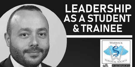Mr Simon Fleming - Leadership as  a Medical Student & Trainee tickets