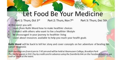 11-7-19 Let Food Be Your Medicine Follow Up Group tickets