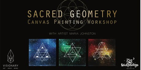 Sacred Geometry Canvas Painting Workshop - Zen Wednesdays tickets